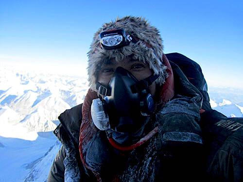 Role of climbing Sherpa