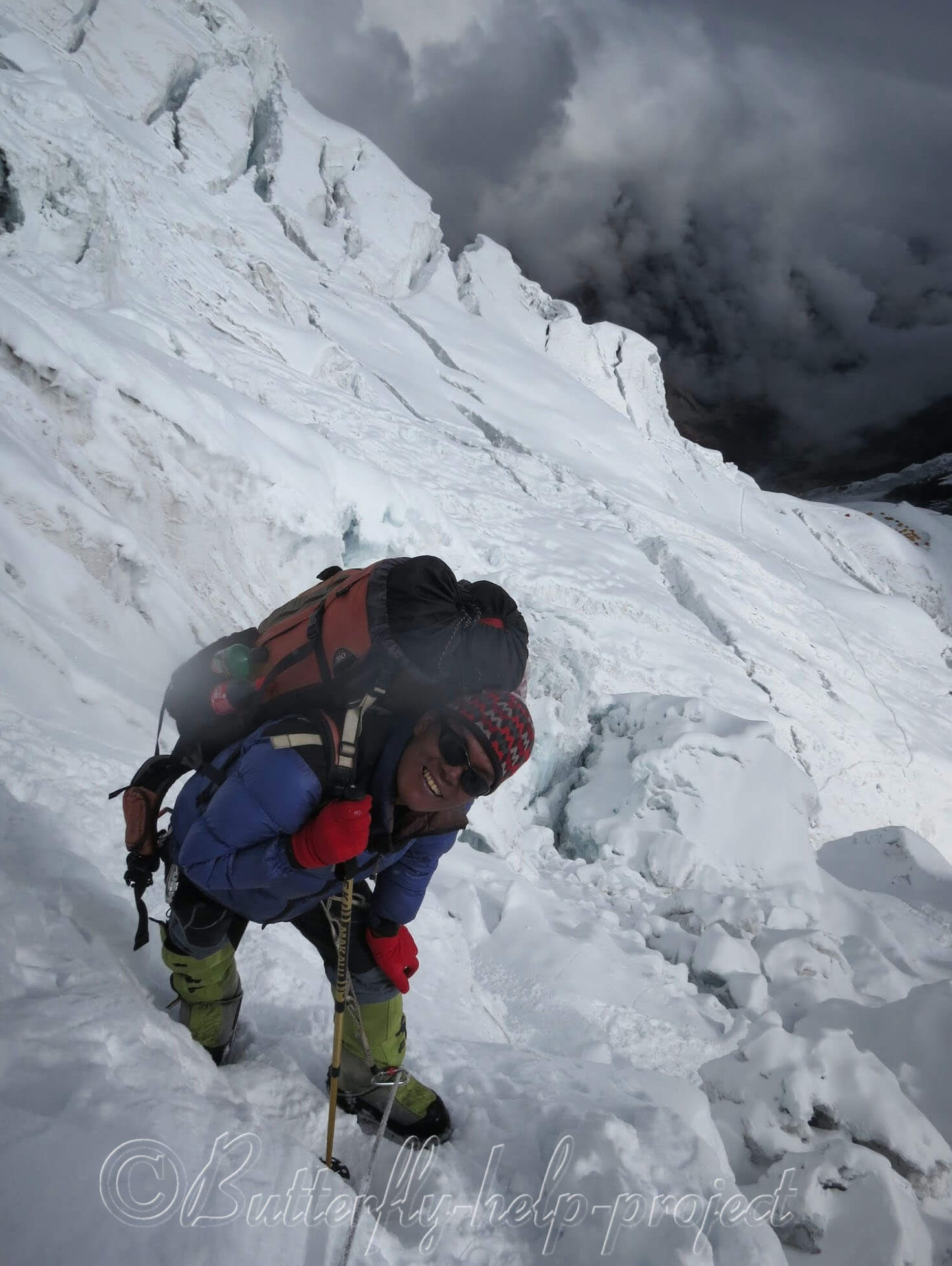 Role of climbing Sherpa