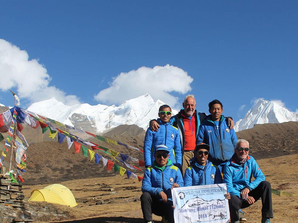 Himlung climbing in Nepal