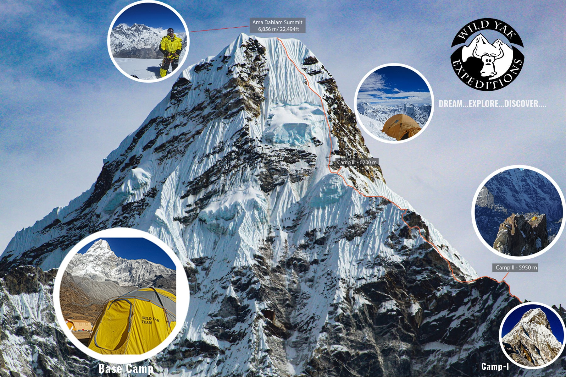 ama-dablam climbing route Nepal